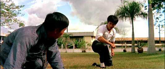 Bruce Lee in the final fight scene of The Big Boss