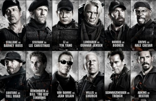 Full Cast of the Expendables 2