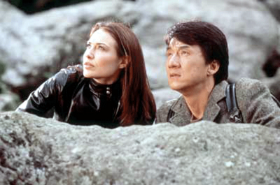 Jackie Chan and Clare Forlani