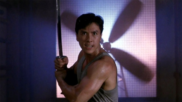Donnie Yen gets ready to slice his opponent up!
