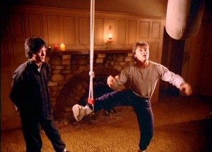 Jason being instructed by Bruce Lee's ghost