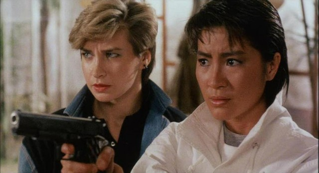 Cynthia Rothrock and Michelle Yeoh
