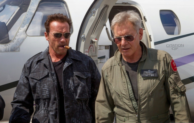 Arnie and Harrison Ford