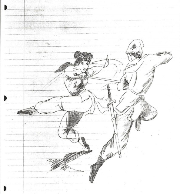 Bruce Lee drawing