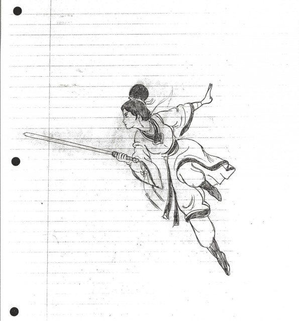 Bruce Lee drawing 6