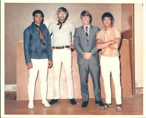 James Coburn with Chuck Norris and Bruce Lee