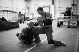 Daniel Craig learning Krav Maga for his role as James Bond - photo from 007.com